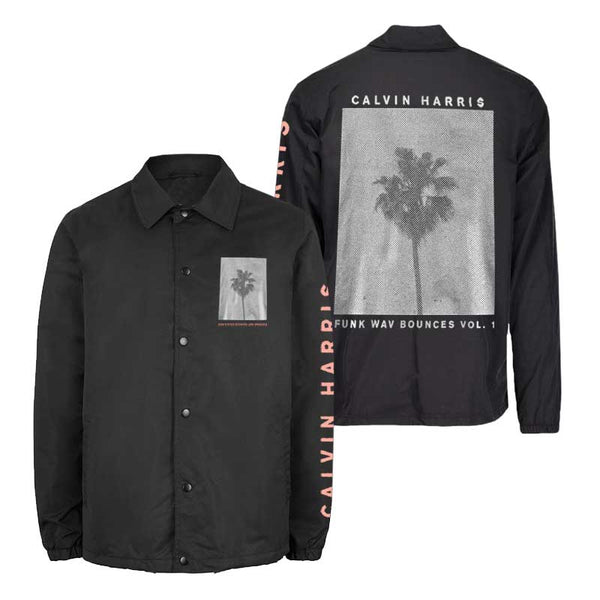 PALM TREE BLACK COACHES JACKET