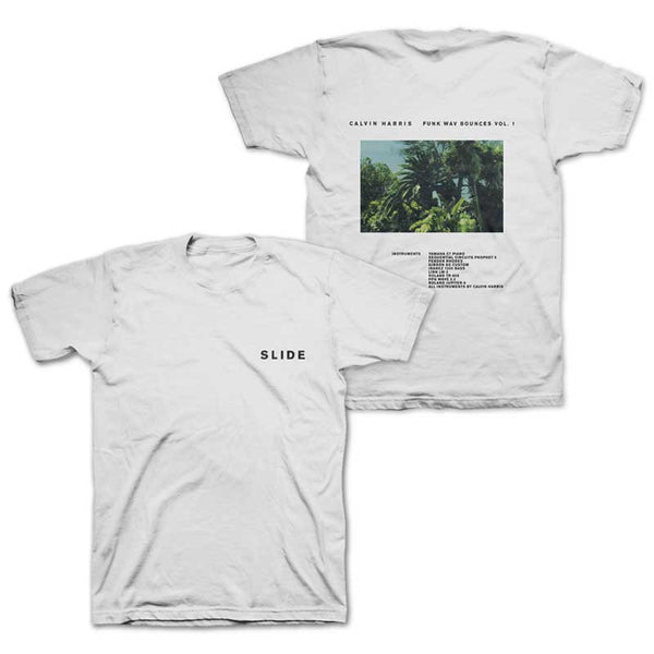 CALVIN HARRIS 'SLIDE' WHITE TEE