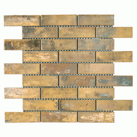 Maniscalco - Murray River Metals 1 1/4 in. x 4 in. Mosaic - Copper Antique