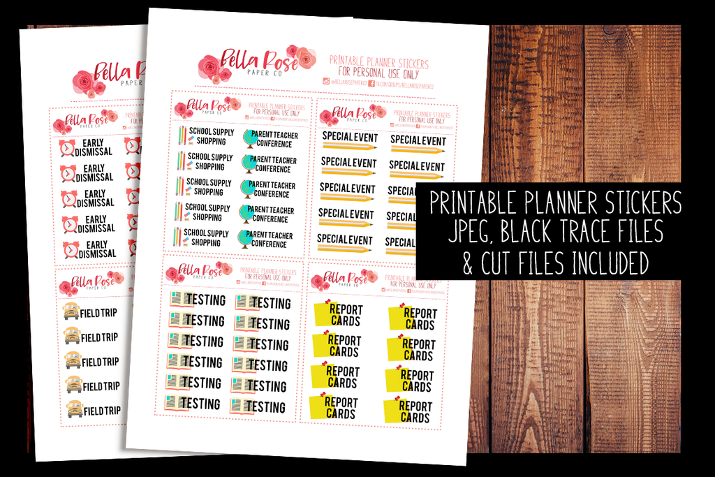 School Events | PRINTABLE PLANNER STICKERS