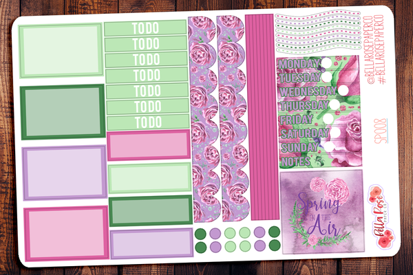 Spring In The Air Mini Happy Planner Sticker Kit SP008