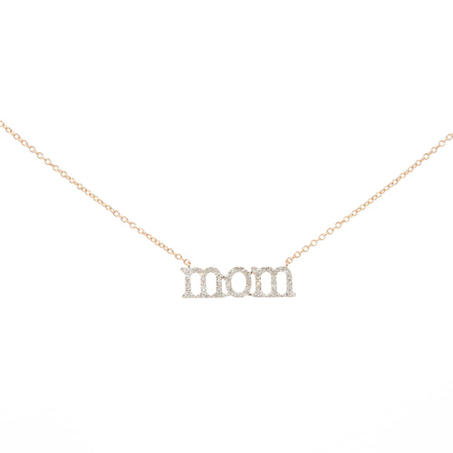 Mom Pave Necklace