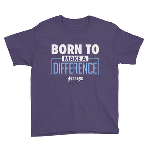Youth Short Sleeve T-Shirt---Born to Make a Difference---Click for more shirt colors