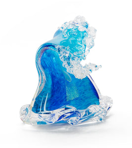 "Glass Sculpture ""Crashing Wave"" Small"