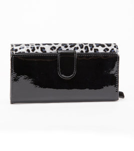 Irina White Panther Large Wallet