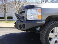 2007-2013 Chevrolet 1500 Front Base Bumper - Iron Bull Bumpers - FRONT IRON BUMPER - Metal bumper for heavy duty trucks Perfect for CITY/OFF-ROAD applications with Light Buckets and Winch Mount included