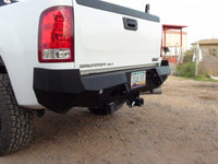 2007-2013 GMC 1500 Rear Base Bumper With Sensor Holes - Iron Bull Bumpers - REAR IRON BUMPER - Metal bumper for heavy duty trucks Perfect for CITY/OFF-ROAD applications with Light Buckets and Winch Mount included