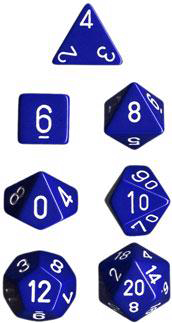 Chessex Polyhedral Dice Set (Blue/White)