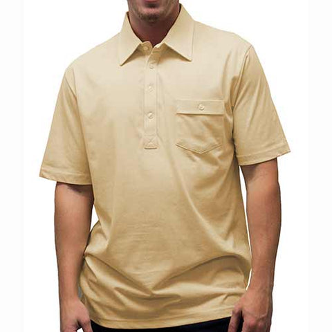 Palmland Solid Textured Short Sleeve Knit Big and Tall Tan