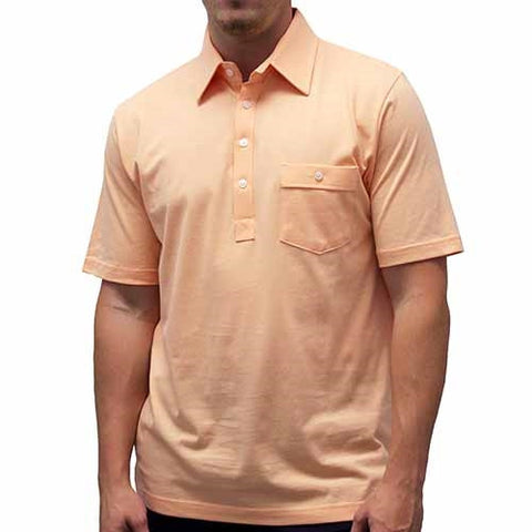 Palmland Solid Textured Short Sleeve Knit -Melon - bandedbottom