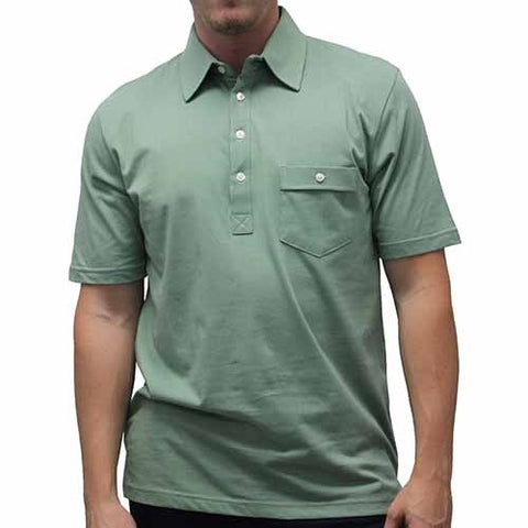 Palmland Solid Textured Short Sleeve Knit -Sage - bandedbottom