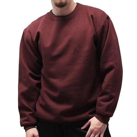 Fleece Crewneck Long Sleeve Sweat Shirt  Big and Tall 6400-450BT Burgundy