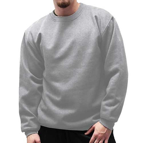 Fleece Crewneck Long Sleeve Sweat Shirt  Big and Tall 6400-450BT - Grey Heather