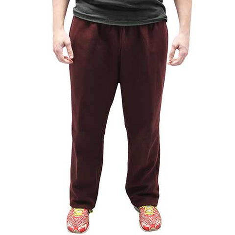 Full Elastic Pull on Fleece Pant - 6400-453BT Burgundy - Big and Tall