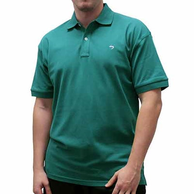 Biscayne Bay Embroidered Men's Polo - Pine - theflagshirt
