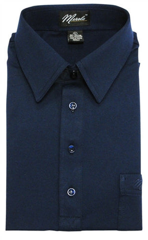Merola Short Sleeve Pocket Polo Shirt -  Navy - bandedbottom