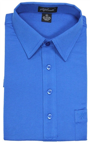 Merola Short Sleeve Pocket Polo Shirt - Royal - bandedbottom