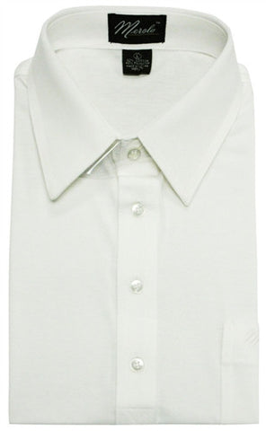 Merola Short Sleeve Pocket Polo Shirt - White - bandedbottom