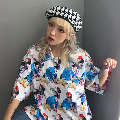 Pastel Kawaii Aesthetic Harajuku Letter Sailor Moon T-Shir