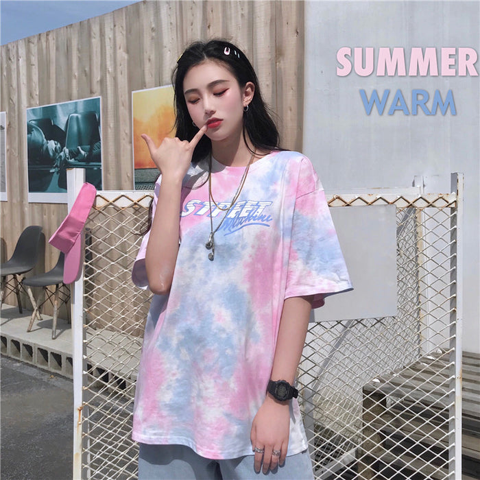 Aesthetic Kawaii Pastel Dyed  Colored Tee