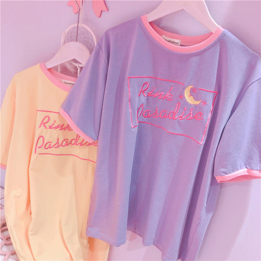Pastel Kawaii Aesthetic Harajuku Letter Sailor Moon T-Shirt