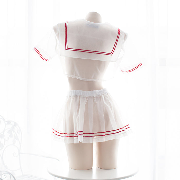 Sexy Amine School Girl Uniform Bow Tie Japanese Cosplay Sailor Moon Lingerie