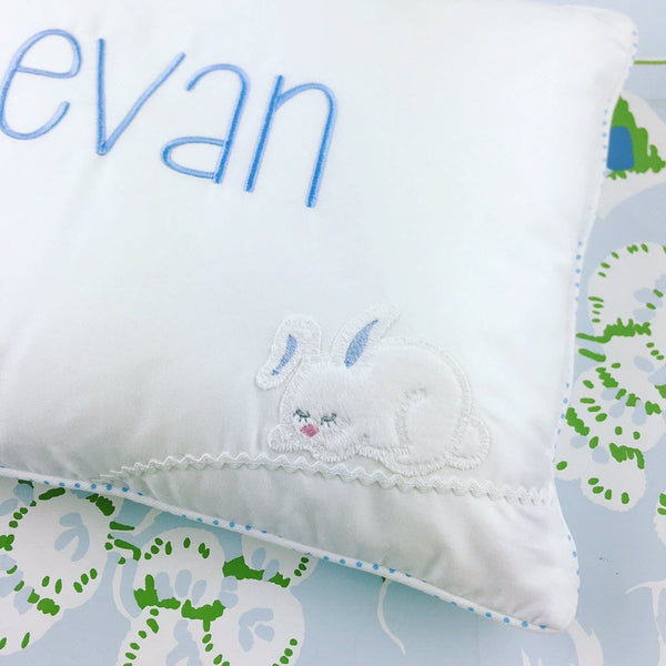 Bunny Boudoir Pillow (Pink or Blue)
