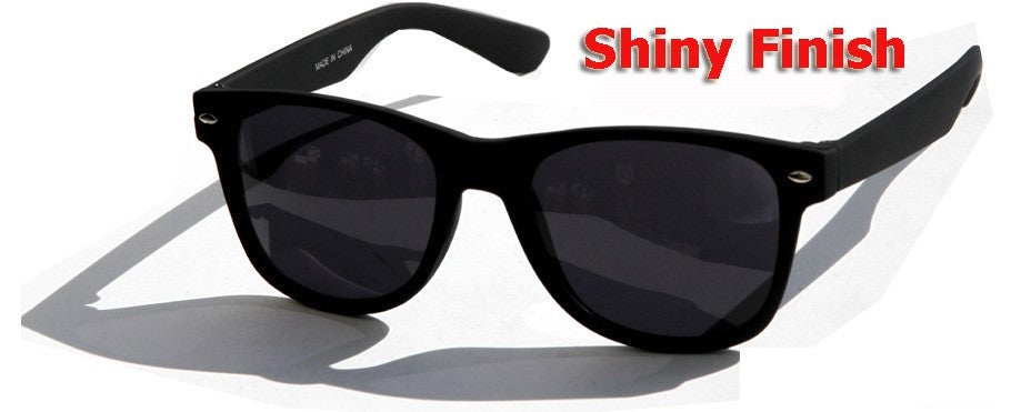 Dark Lens Classic Sunglasses / Shiny Finish #W11SP - wholesalesunglasses.net