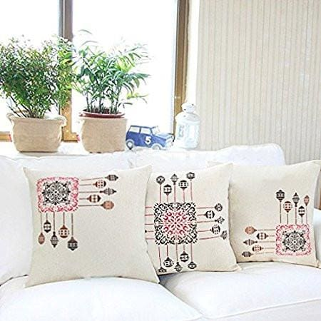 Cushion Cover Block Printed Royal Celebration - Set of 3