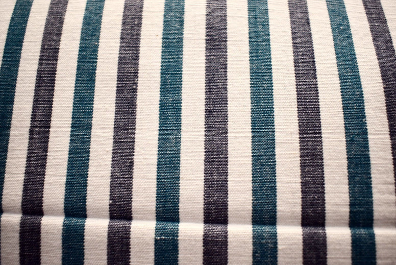Set - 2 Huse Perna din Bumbac Handloom - Blue Stripes