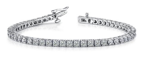 Diamonds on 14kt White Gold Tennis Bracelet (3.12TCW)
