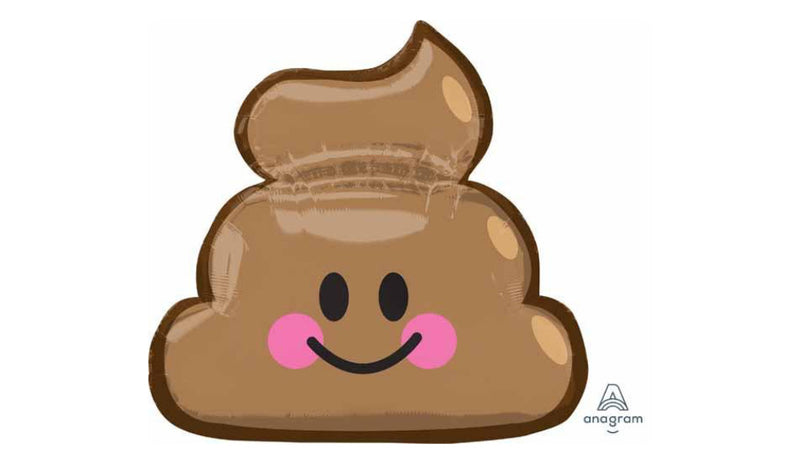 Emoticon Poop inflated - Balloon Express