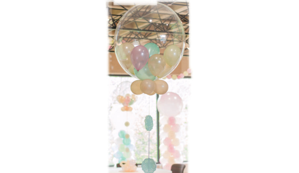 "Bubble DECO Gumball 24"" with collar - Balloon Express"