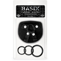 Basix Rubber Works Universal Harness Black - Plus Size