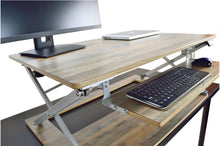 Electric Reclaimed Wood Attollo Desk lifted