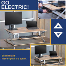 Attollo Reclaimed Wood Electric Height Adjustable Standing Desk
