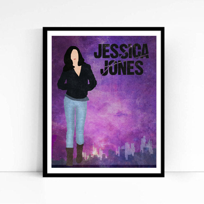 Jessica Jones TV Poster, Minimalist print