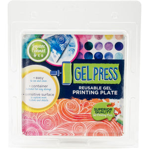 Gel Press - Reusable Gel Printing Plate - 6 x 6 Square Gel Plate