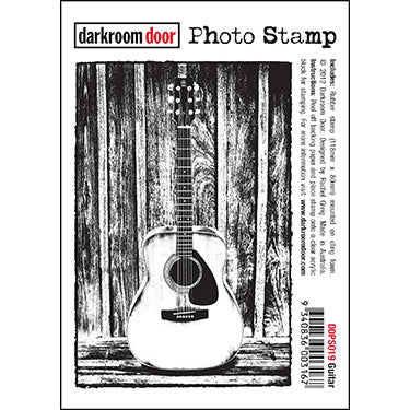 Darkroom Door - Guitar - Rubber Cling Photo Stamp