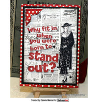 Darkroom Door - Stand Out - Red Rubber Cling Stamp