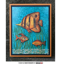 Darkroom Door - Under the Sea - Fish - Red Rubber Cling Stamps