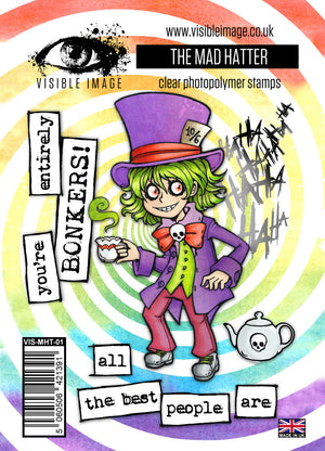 Visible Image - Alice in Wonderland - The Mad Hatter - Clear Polymer Stamp Set