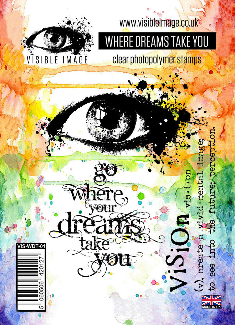 Visible Image - Where Dreams Take You - Clear Polymer Stamp Set