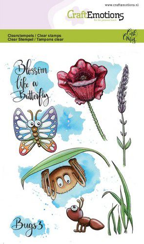 Craft Emotions - Clear Polymer Stamps - Bugs 3