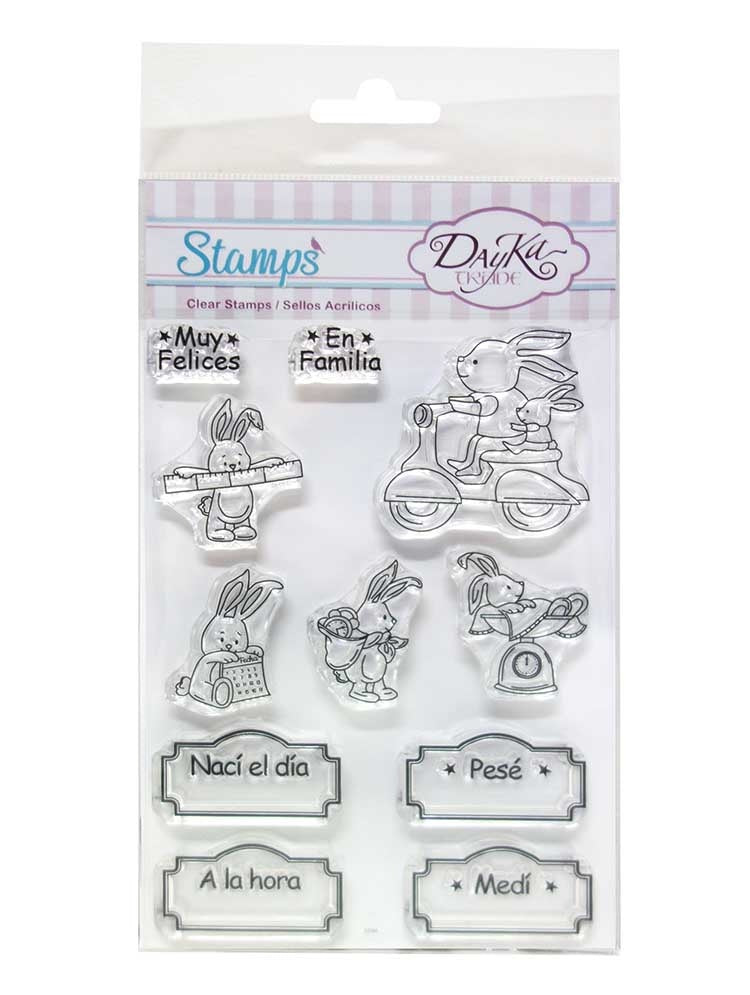 DayKa Trade - Clear Acrylic Stamp Set - A6 - I Was Born