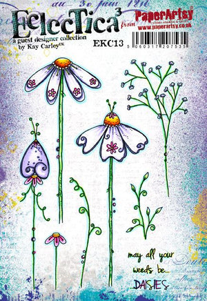 PaperArtsy - Kay Carley 13 - Rubber Cling Mounted Stamp Set
