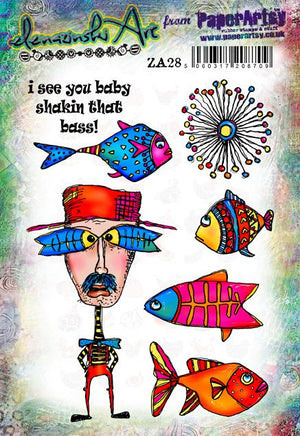 PaperArtsy - Zinski Art 28 - Rubber Cling Mounted Stamp Set