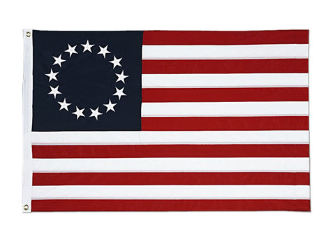 Betsy Ross 3' x 5' Dyed Nylon Flag