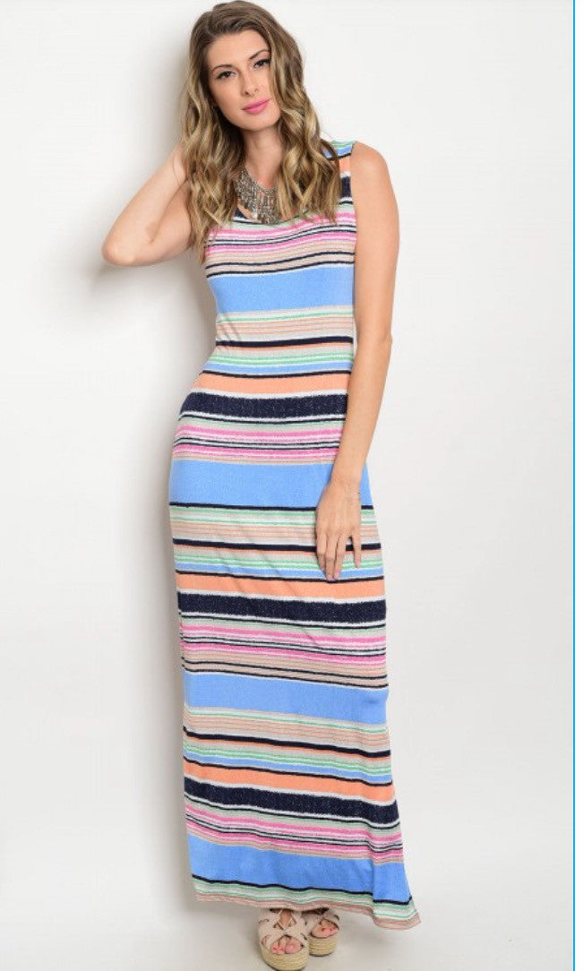 Multi-Colored Maxi Dress