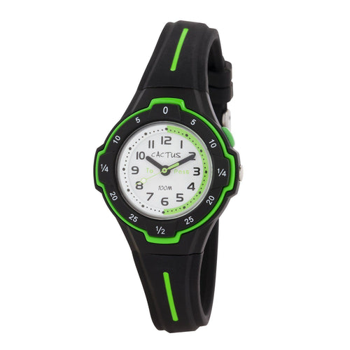 Watches - Time Guide - Cactus Time Teacher Kids Watch - Black